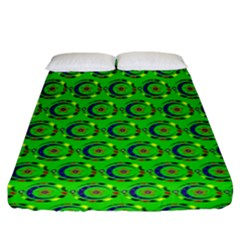 Abstract Art Circles Swirls Stars Fitted Sheet (king Size) by Nexatart