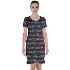Full Frame Shot Of Abstract Pattern Short Sleeve Nightdress