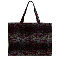 Full Frame Shot Of Abstract Pattern Medium Zipper Tote Bag