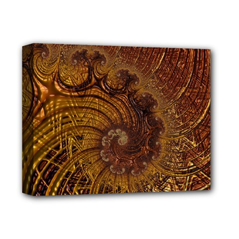 Copper Caramel Swirls Abstract Art Deluxe Canvas 14  X 11  by Nexatart