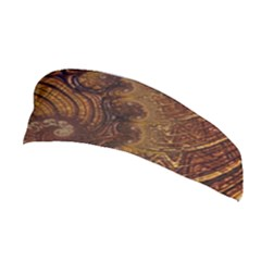 Copper Caramel Swirls Abstract Art Stretchable Headband