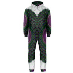 Pattern District Background Hooded Jumpsuit (men)