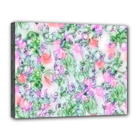 Softly Floral A Canvas 14  X 11