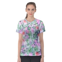 Softly Floral A Women s Sport Mesh Tee by MoreColorsinLife