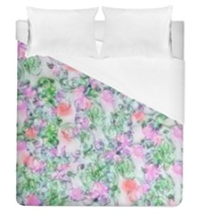 Softly Floral A Duvet Cover (queen Size) by MoreColorsinLife