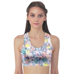 Softly Floral C Sports Bra by MoreColorsinLife