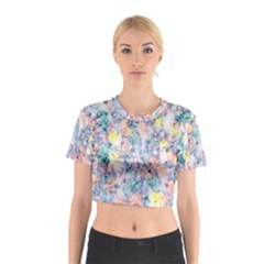Softly Floral C Cotton Crop Top by MoreColorsinLife