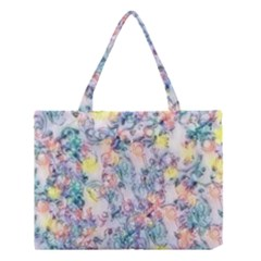 Softly Floral C Medium Tote Bag by MoreColorsinLife
