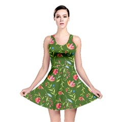 Sunny Garden I Reversible Skater Dress by tarastyle