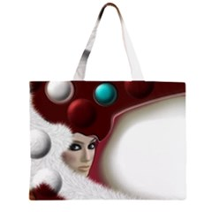 Carnaval Zipper Large Tote Bag by mugebasakart