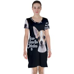 Chihuahua Short Sleeve Nightdress by Valentinaart