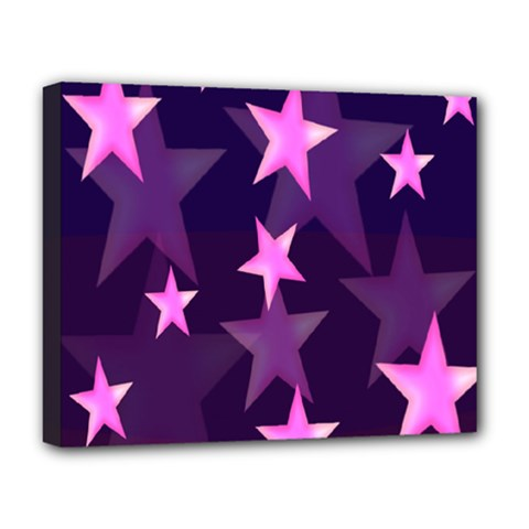 Background With A Stars Deluxe Canvas 20  X 16   by Nexatart
