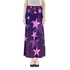 Background With A Stars Maxi Skirts by Nexatart