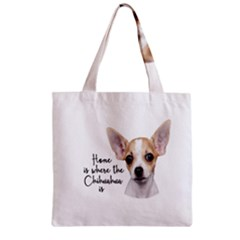 Chihuahua Zipper Grocery Tote Bag by Valentinaart