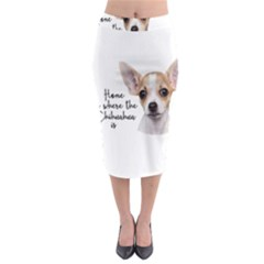 Chihuahua Midi Pencil Skirt by Valentinaart