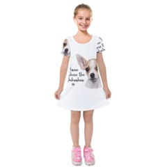 Chihuahua Kids  Short Sleeve Velvet Dress by Valentinaart