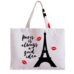 Paris Zipper Mini Tote Bag by Valentinaart
