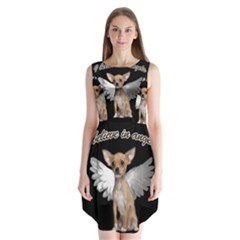 Angel Chihuahua Sleeveless Chiffon Dress   by Valentinaart