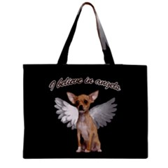 Angel Chihuahua Medium Zipper Tote Bag by Valentinaart