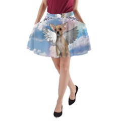 Angel Chihuahua A Line Pocket Skirt by Valentinaart