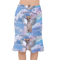 Angel Chihuahua Mermaid Skirt by Valentinaart