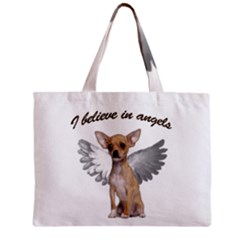 Angel Chihuahua Zipper Mini Tote Bag by Valentinaart