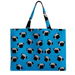 Pug Dog Pattern Zipper Mini Tote Bag by Valentinaart