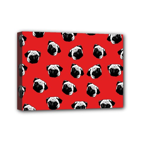 Pug Dog Pattern Mini Canvas 7  X 5  by Valentinaart