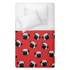 Pug Dog Pattern Duvet Cover (single Size) by Valentinaart