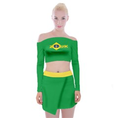 Brazil Colors Zouk - Off Shoulder Top With Skirt Set