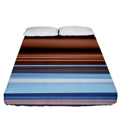 Color Screen Grinding Fitted Sheet (queen Size)