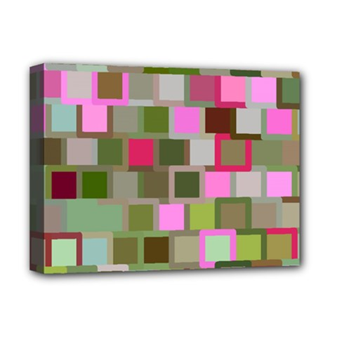 Color Square Tiles Random Effect Deluxe Canvas 16  X 12   by Nexatart