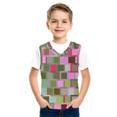 Color Square Tiles Random Effect Kids  Sportswear by Nexatart