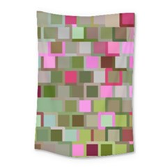 Color Square Tiles Random Effect Small Tapestry