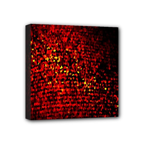 Red Particles Background Mini Canvas 4  X 4