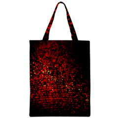 Red Particles Background Zipper Classic Tote Bag by Nexatart