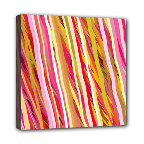 Color Ribbons Background Wallpaper Mini Canvas 8  X 8  by Nexatart