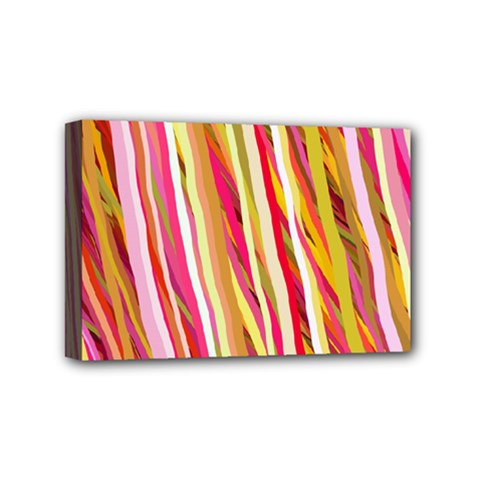 Color Ribbons Background Wallpaper Mini Canvas 6  X 4  by Nexatart