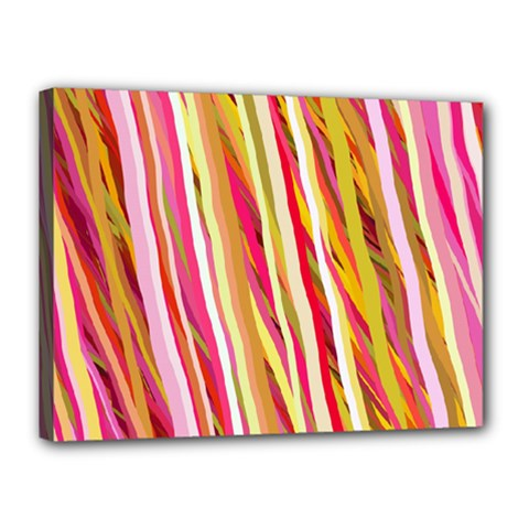 Color Ribbons Background Wallpaper Canvas 16  X 12  by Nexatart