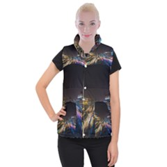 Frozen In Time Women s Button Up Puffer Vest by Nexatart