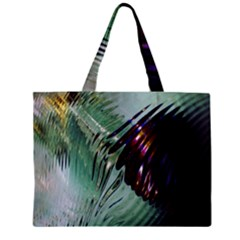 Out Of Time Glass Pearl Flowag Zipper Mini Tote Bag by Nexatart