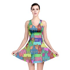 Neighborhood In Color Reversible Skater Dress by Nexatart