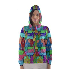 Neighborhood In Color Hooded Wind Breaker (women)