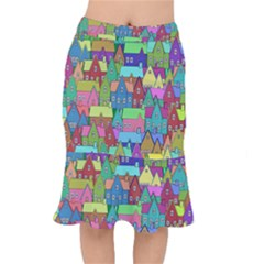 Neighborhood In Color Mermaid Skirt by Nexatart