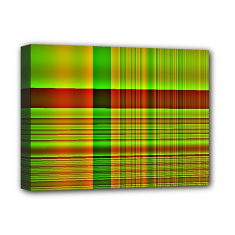 Multicoloured Background Pattern Deluxe Canvas 16  X 12   by Nexatart
