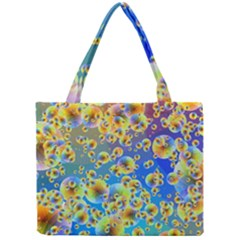Color Particle Background Mini Tote Bag by Nexatart