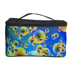 Color Particle Background Cosmetic Storage Case