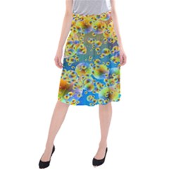 Color Particle Background Midi Beach Skirt by Nexatart