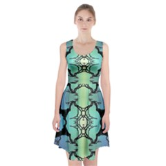 Branches With Diffuse Colour Background Racerback Midi Dress