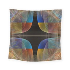 Black Cross With Color Map Fractal Image Of Black Cross With Color Map Square Tapestry (small) by Nexatart